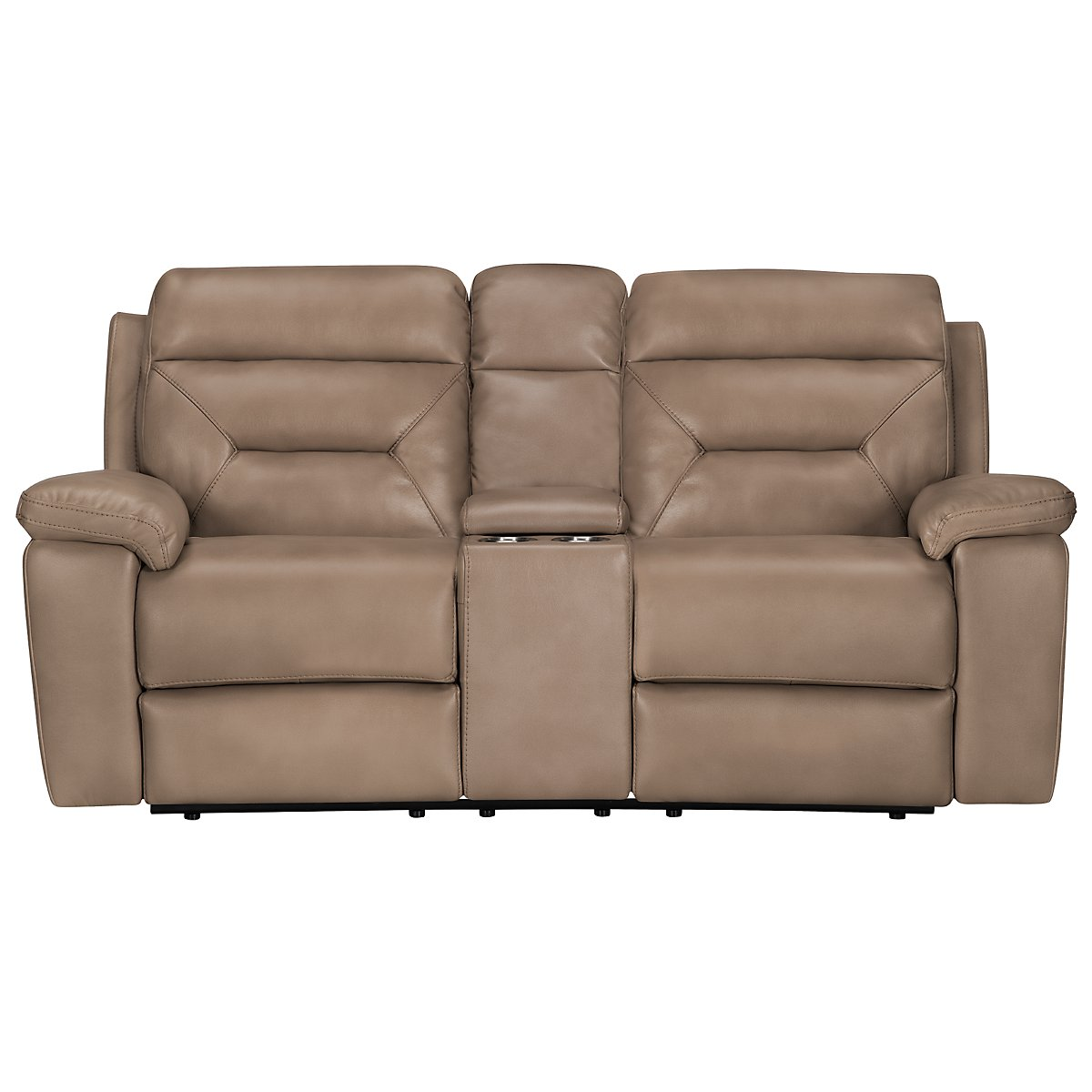 City Furniture Phoenix Dk Beige Microfiber Reclining