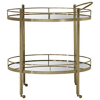 Jet Set Mirrored Cart