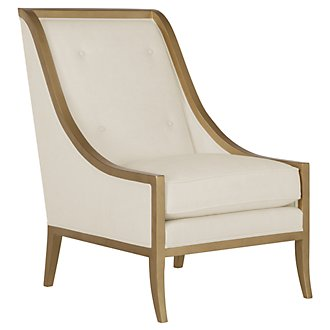 Henderson Lt Beige Fabric Accent Chair
