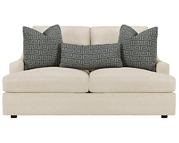 Josh Light Beige Fabric Loveseat