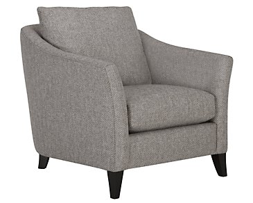 Claiborne Light Gray Fabric Chair