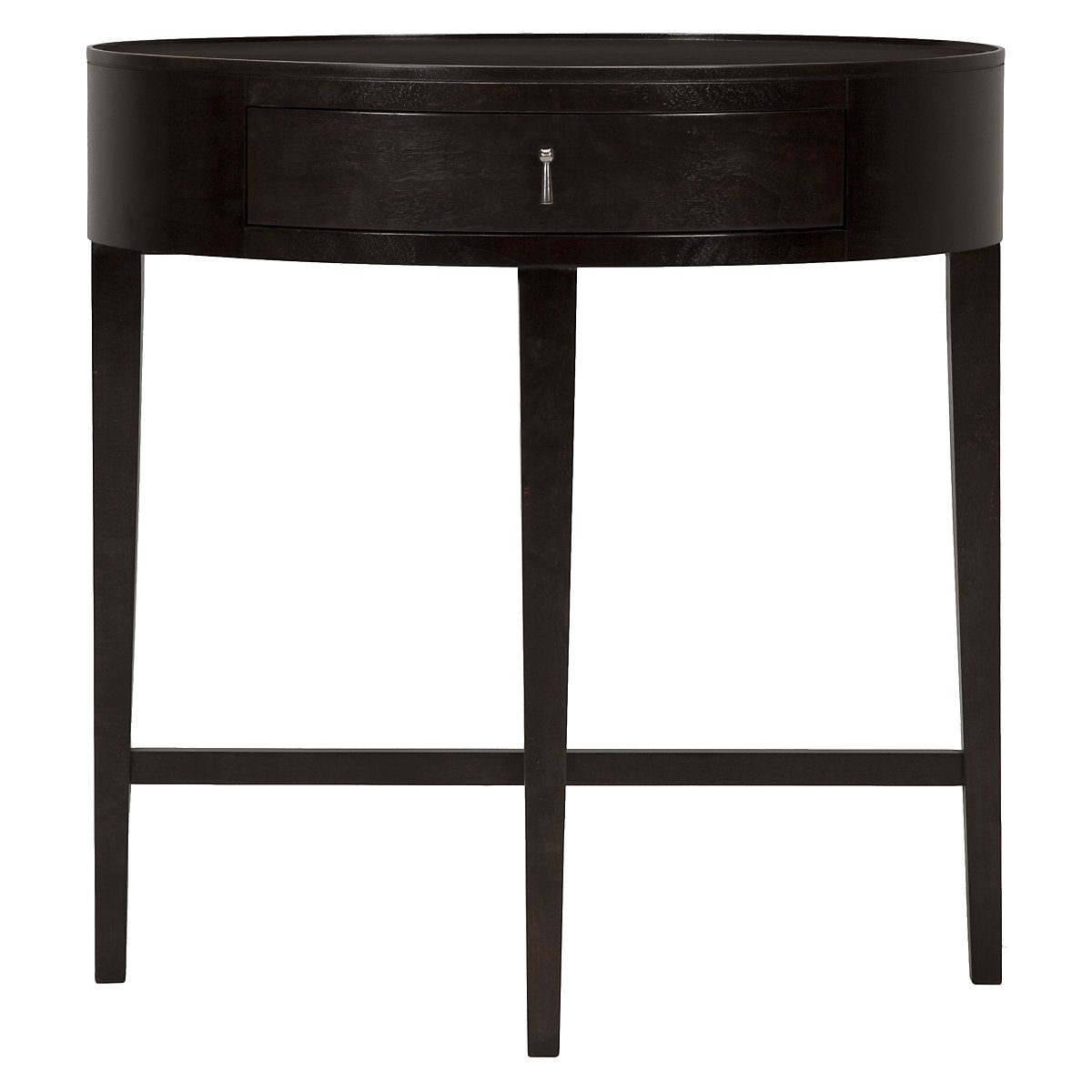 Haven Dark Tone Oval Nightstand
