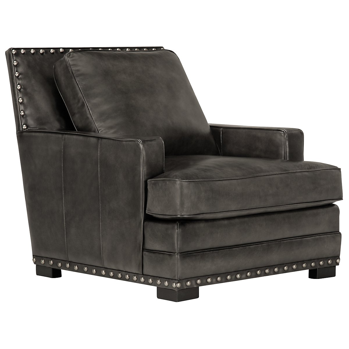Cantor Dark Gray Leather Chair