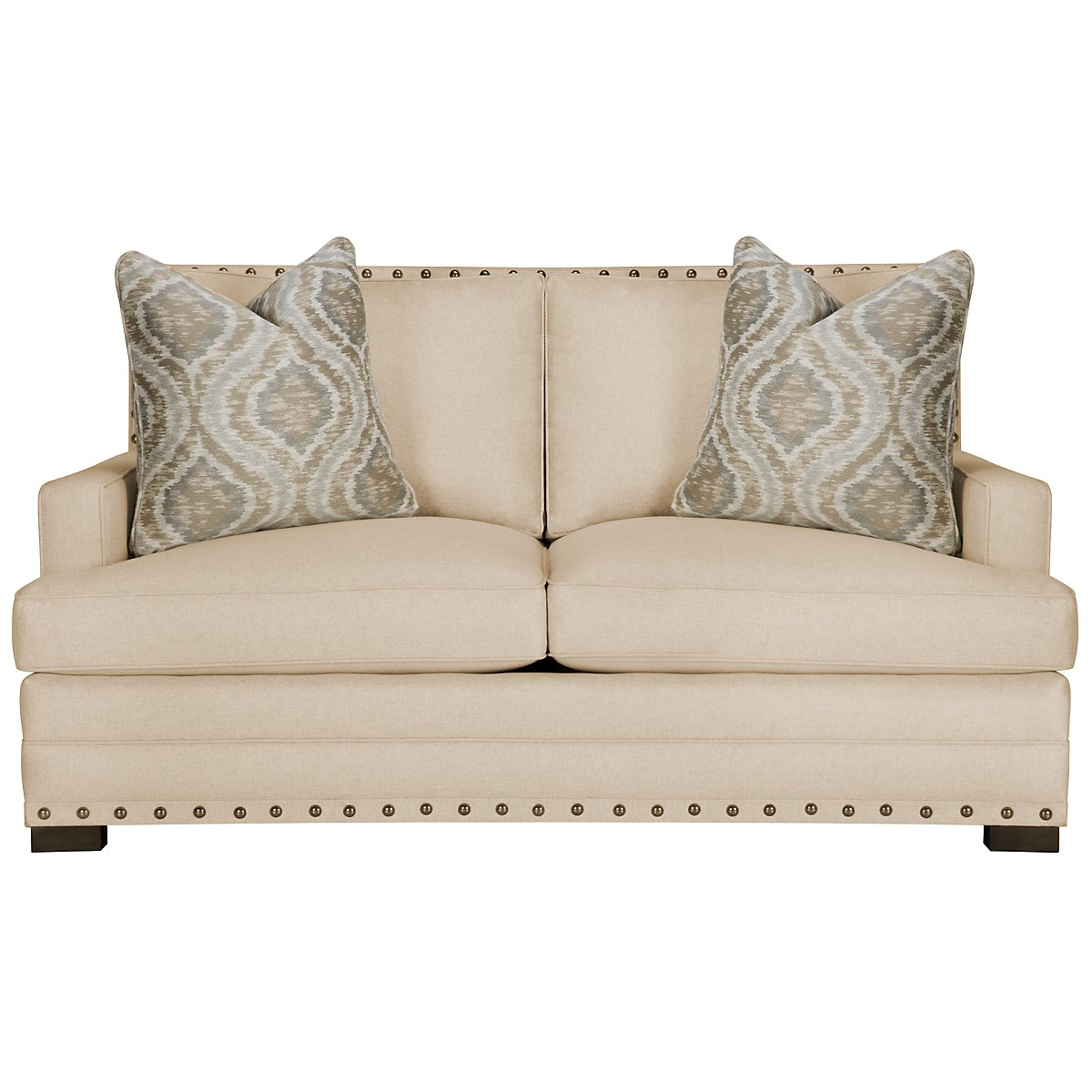 Cantor Beige Fabric Loveseat