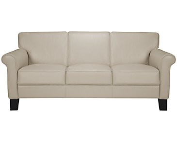 Kaila Beige Leather Sofa