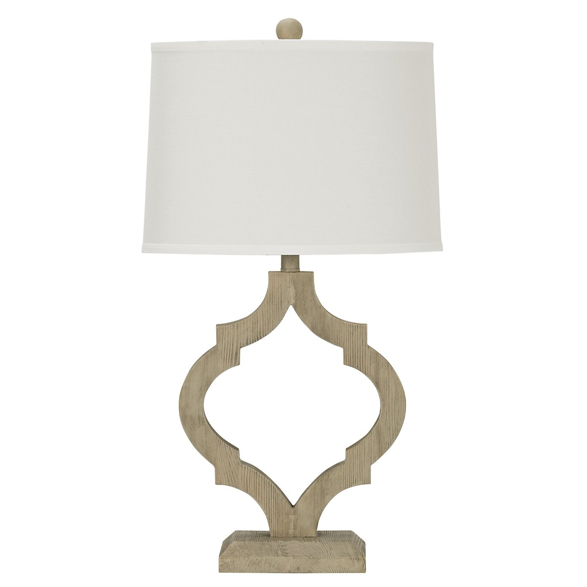 Storm Light Gray Table Lamp