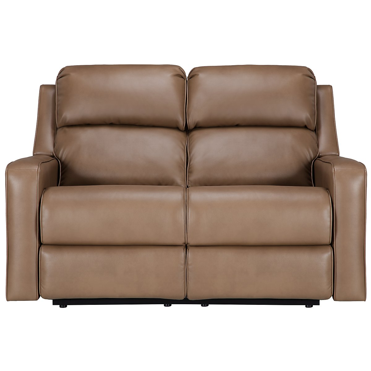 Rocco Dark Taupe Microfiber Power Reclining Loveseat