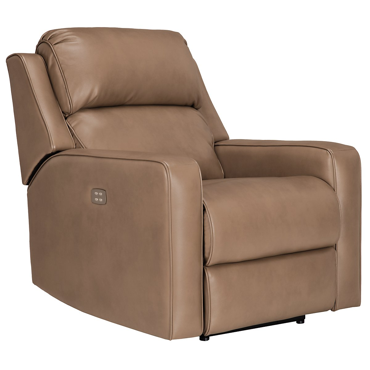 Rocco Dk Taupe Microfiber Power Recliner