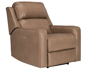 Rocco Dark Taupe Microfiber Power Recliner