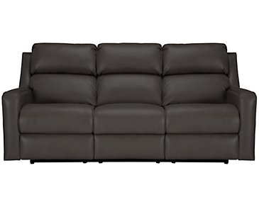 Rocco Gray Microfiber Power Reclining Sofa