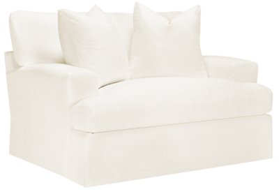 Genial Image Of Delilah White Fabric Chair With Sku:3312011