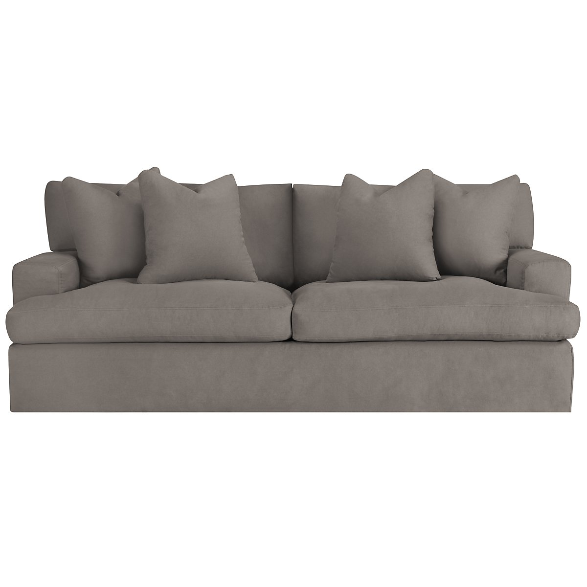 City Furniture Delilah Gray Fabric Sofa