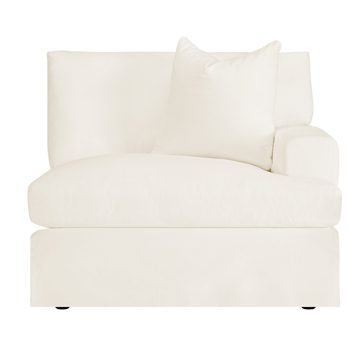 City Furniture Delilah White Fabric Small Two Arm Sectional