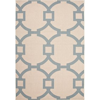 Chelsey Blue Indoor/Outdoor 5x8 Area Rug