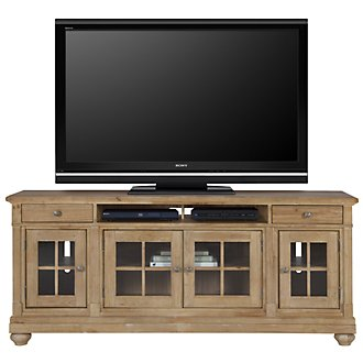 "Harbor View Light Tone 74"" TV Stand"