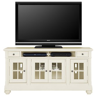 "Harbor View White 62"" TV Stand"