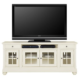 "Harbor View White 74"" TV Stand"