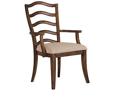 Savoy Mid Tone Wood Arm Chair