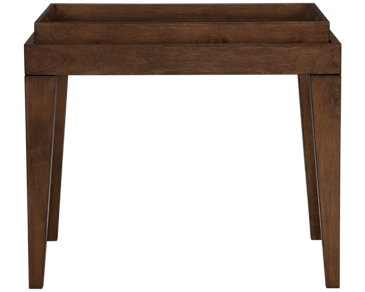 Savoy Mid Tone Tray End Table