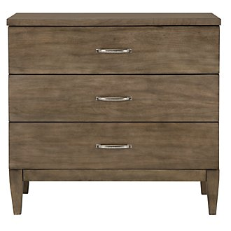 Preston Gray 3-Drawer Nightstand