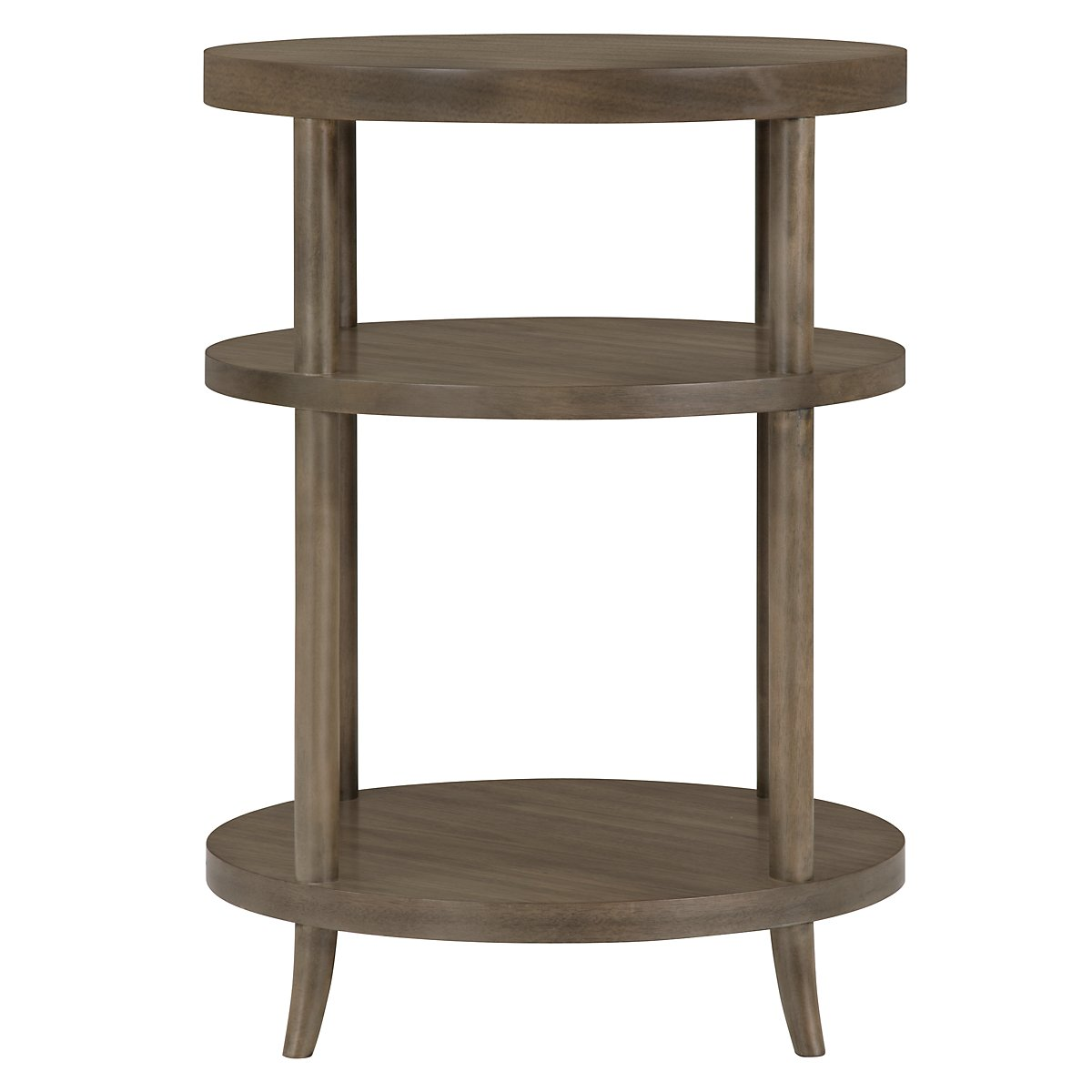 city furniture preston gray round nightstand
