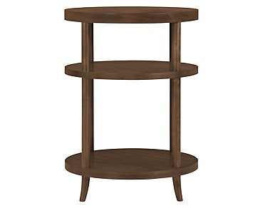 Preston Mid Tone Round Nightstand