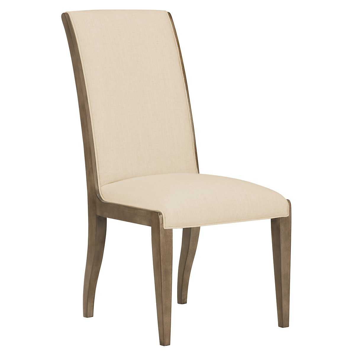 Preston Gray Sloped Upholstered Side Chair