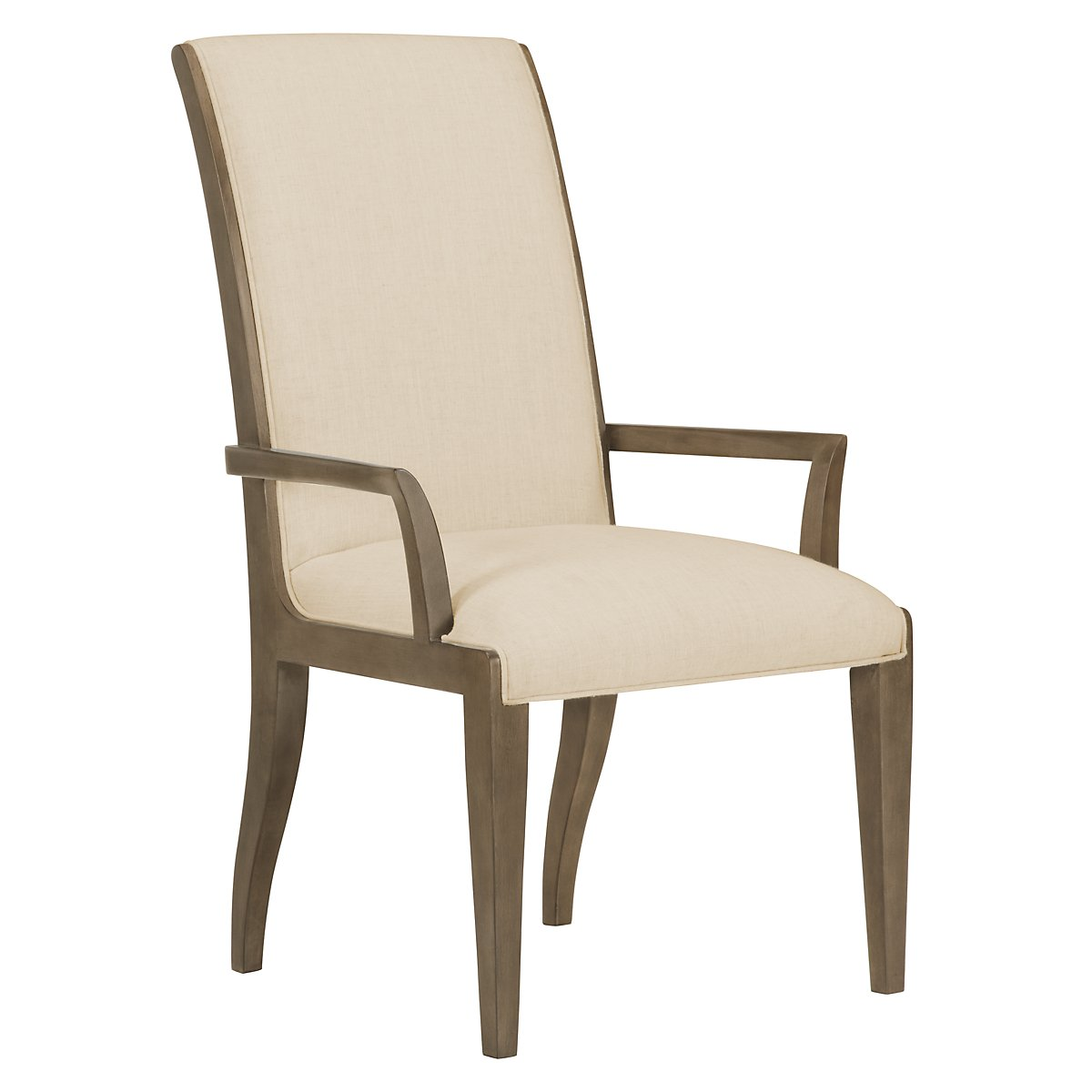 Preston Gray Sloped Upholstered Arm Chair