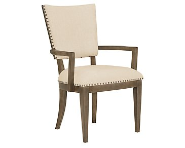 Preston Gray Upholstered Arm Chair