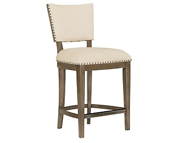 "Preston Gray 24"" Upholstered Barstool"