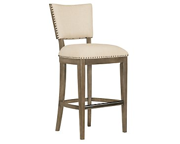 "Preston Gray 30"" Upholstered Barstool"