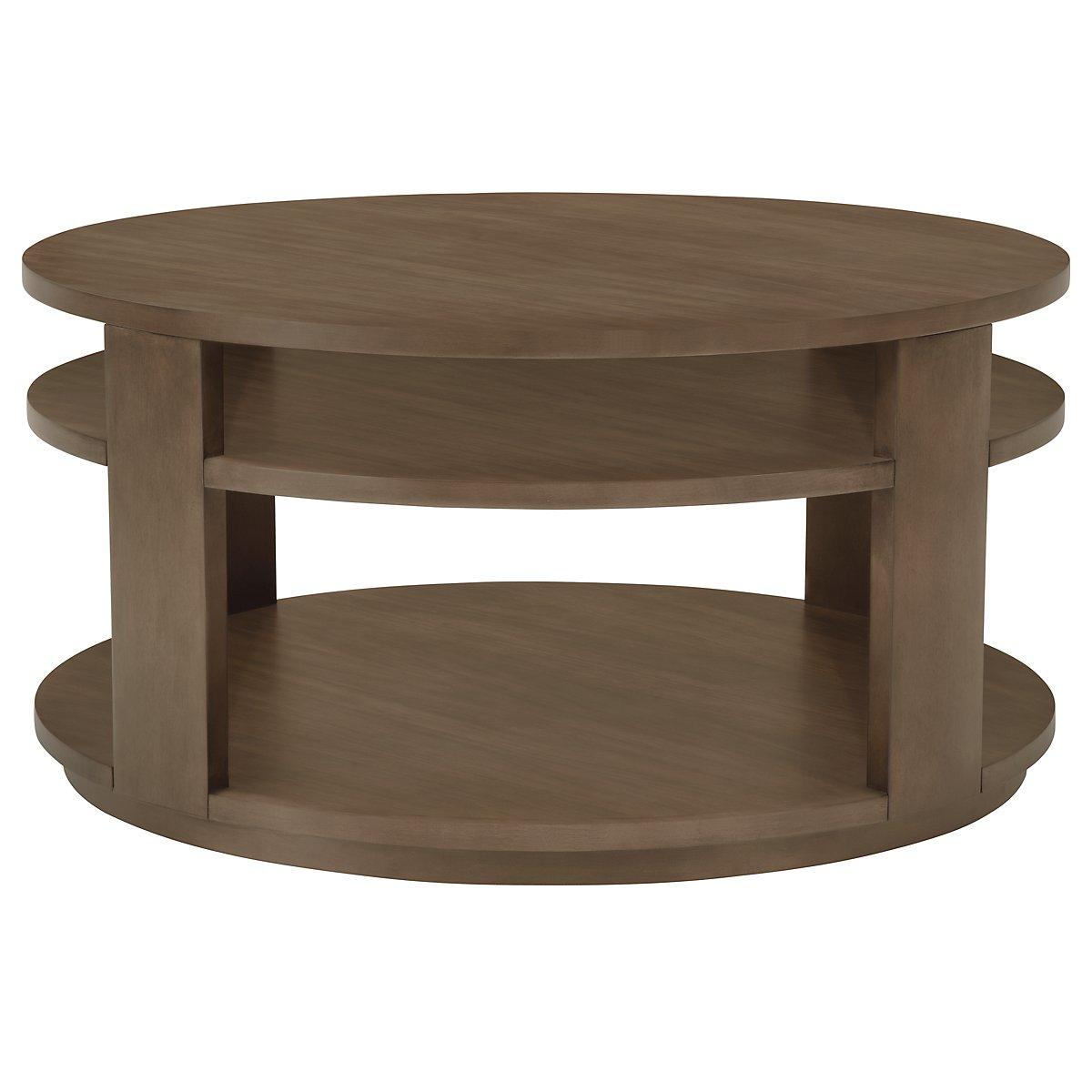 City Furniture Preston Gray Round Coffee Table