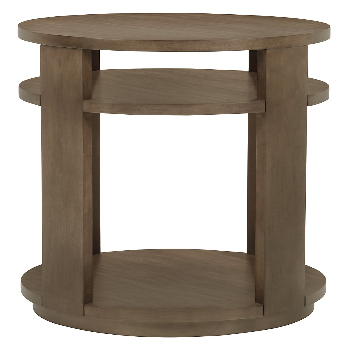 Preston Gray Large Round End Table