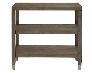 Preston Gray Rectangular End Table