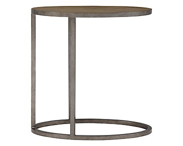 Preston Gray Metal Chairside Table