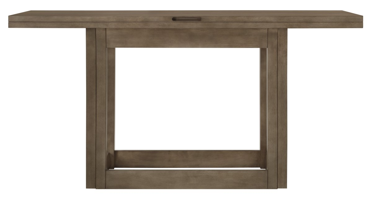 Preston gray flip top sofa table