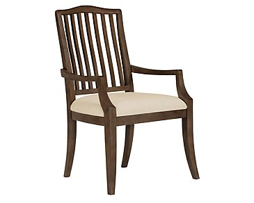 Preston Mid Tone Wood Arm Chair
