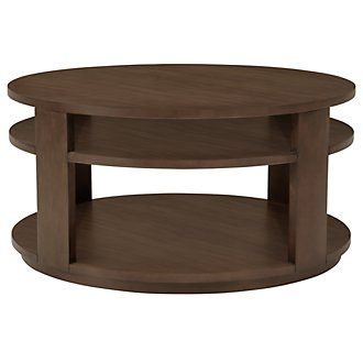 Preston Mid Tone Round Coffee Table