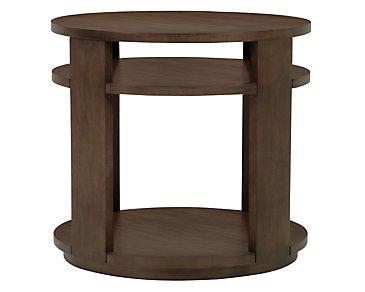 Preston Mid Tone Large Round End Table