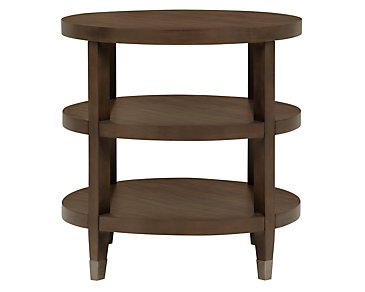Preston Mid Tone Small Round End Table