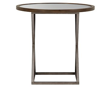 Preston Mid Tone Glass Round End Table