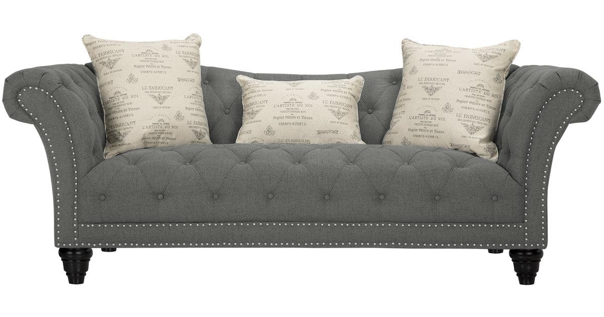 City Furniture Hutton Dk Gray Fabric Sofa