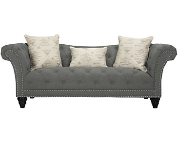 Hutton Dark Gray Fabric Sofa