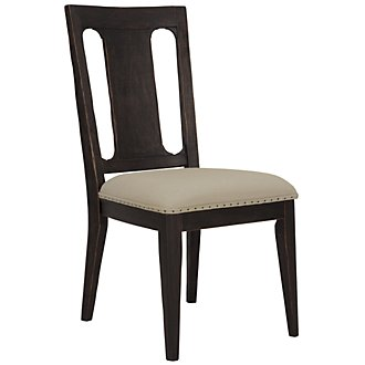 Bellagio Black Wood Side Chair