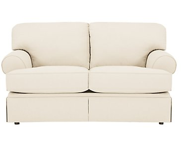 Kylie Beige Cotton Loveseat