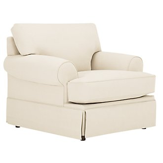 Kylie Beige Cotton Chair