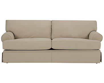 Kylie Dark Taupe Cotton Sofa