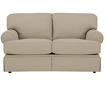 Kylie Dark Taupe Cotton Loveseat