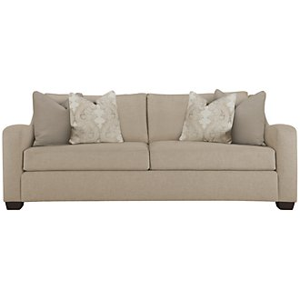 Lorna3 Beige Fabric Small Sofa