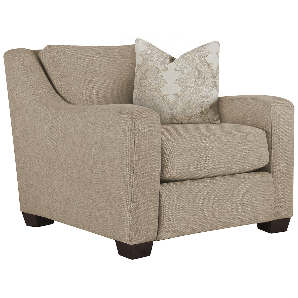 Lorna3 Beige Fabric Small Chair